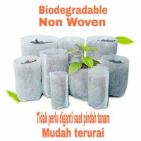 POT PLASTIK BIODEGRADABLE POLYBAG SEEDLING BAG SEMAI BENIH BIBIT