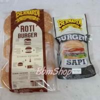 paket Roti + Burger beef Bernardi