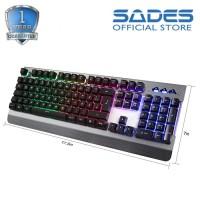 SADES Whisper Fullsize Gaming Keyboard