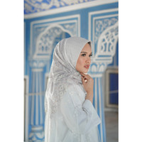 Maharani Square Voal in White