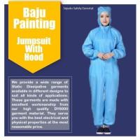 Baju Painting Jumpsuit ESD With Hood - Antistatic Wearpack