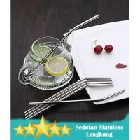 Sedotan Stainless Anti Karat - Stainless Straw