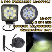 WORKLIGHT 27W 9 LED 24 VOLT WORKLIGHT TRUCK BUS LAMPU TEMBAK SOROT