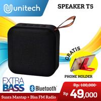 Speaker Bluetooth T5 Wireless Portable Super Bass Support FM Radio