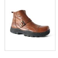 Sepatu Boots Kulit Asli / Borsa - Robust 512