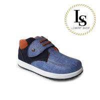 Sepatu Anak Laki-laki Jeans Danim / Sepatu Boots Casual formal - 28, Abu-abu