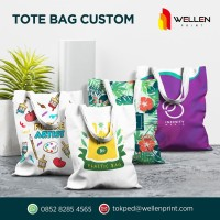 Cetak / Print Custom Tote Bag / Totebag Kanvas / Canvas 30 x 40 cm