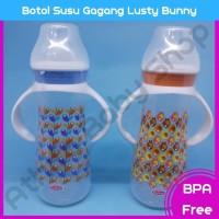 Botol Susu Gagang Lusty Bunny Regular NEck Bottle With Handle 250Ml