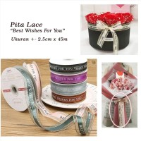 "Korean Pita Lace Roll "" Best Wishes For You "" - Pita Kotak Kue HBD"