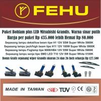 Paket bohlam Fehu plus LED Mitsubishi Grandis. Warna sinar putih