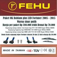 Paket Ok bohlam Fehu plus LED untuk Fortuner 2009-2014 Sinar putih