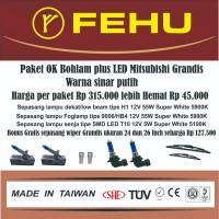 Paket OK bohlam plus LED Fehu untuk Mitsubishi Grandis sinar putih