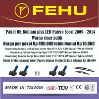 Paket OK bohlam plus LED Fehu untuk Pajero Sport Warna sinar putih