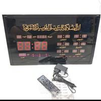 Jam Adzan Digital LED Otomatis 6 Waktu Azan Dinding Besar 4622-Y2