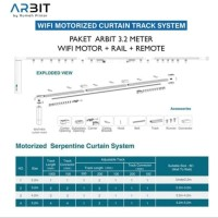 ARBIT - Smart Home Wifi Curtain/Gorden Motor + Remote + Rail 3.2 Meter