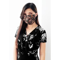 Masker Batik Water Repellent/ Anti Microbial 3 Ply