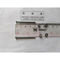 Baut JP 3X40 mm Set Mur Putih dan Ring Plat Per Set Murah M3x40mm Plus
