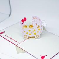 KARTU UCAPAN 3D BABY BORN GIFT CARD WISHES CARD