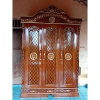 Almari 3 pintu terbaru kayu jati almari murah