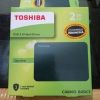 Toshiba Canvio Basics 2TB Hardisk Eksternal 2TB