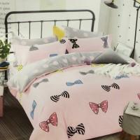 Bed Cover dan Sprei Katun Jepang Motif Anak Pita Pelangi