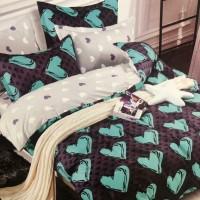Bed Cover dan Sprei Katun Jepang Motif Anak Love me