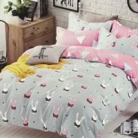 Bed Cover dan Sprei Katun Jepang Motif Anak Kelinci
