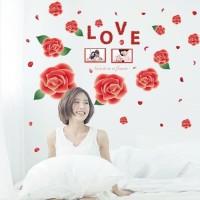 SK9042 ROSE LOVE wall sticker/ wallsticker 60x90