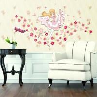 XH9228 FLOWER GIRL wall sticker/ wallsticker 60x90