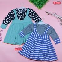 Dress Kiki size 1-2 Tahun / Dres Anak Perempuan Overall Baju Gaun