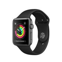 Apple Watch Series 3 38mm Space Gray Aluminum Black Sport Band