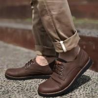 Pedro Dark Brown Sepatu Pria Shoes Casual Formal