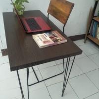 meja kantor 80 x 45 hairpin leg