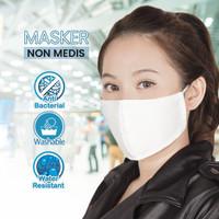 MASKER NON MEDIS - Anti Bakteri Dapat Dicuci - Putih
