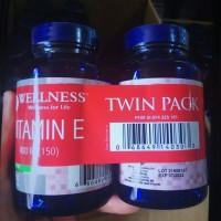 Vitamin E 400iu wellness asli 300capsul.. isi 150+150 Natural e