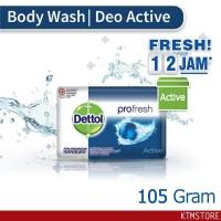 Sabun Mandi Dettol sabun Batang active 105 gr bar soap