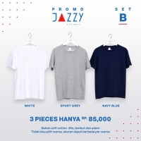 (PROMO - SET B) Kaos Polos Soft Style 30s Jazzy Apparel