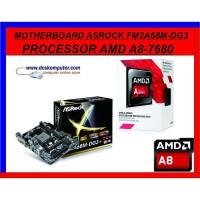 ASROCK A68DG3 + AMD A8 7680 ONBOARD VGA R7 *PAKET