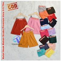 All Size Celana Kulot Anak Bahan Scuba Premium Umur 2-5 Tahun
