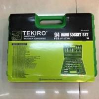 "Hand Socket Set 94 Pcs (1/4"" - 1/2"") Tekiro 6 PT / Kunci Sok Set"