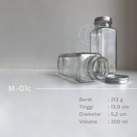 Botol kaca 250ml - botol juice kopi - kotak