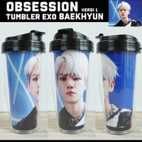 TUMBLER EXO OBSESSION VERSI 1 / Merchandise KPOP Unofficial Botol Air