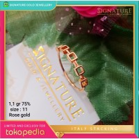 Cincin Emas ITALY STACKING Ring Rose Gold. 36A