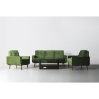 GREEN VELVET SCANDINAVIAN SOFA - Sofa Scandinavian minimalis, Sofa Mod