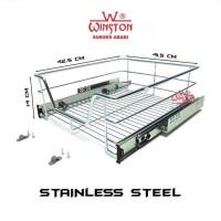 Rak Panci Piring Mangkok Tarik Ww 007 C For Kitchen Set Cabinet 45 Cm