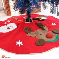 Alex0 Alas Pohon Natal Motif Santa Claus untuk Dekorasi Pesta