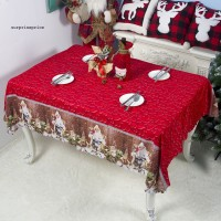 150x180cm Tablecloth Christmas New Year Washable Table Cover Party