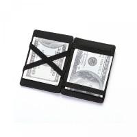 Men Leather Casual PU Zipper Package Business Wallet OCEANMAP