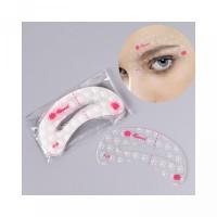 Drawing Guide 9pcs Thrush Eyebrow Makeup Tool Stencil Card Reusable Si