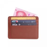 Seng untuk Kartu Bahan Dompet Tipis Kulit Kredit Pria Uang ID